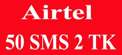 airtel 2 taka sms pack