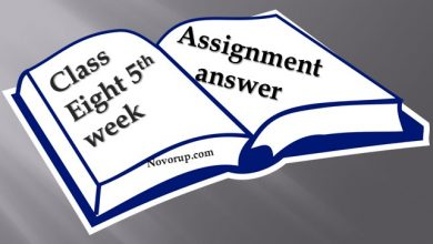 Class Eight 5th week assignment with answer