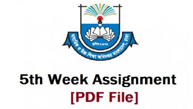5th week assignment