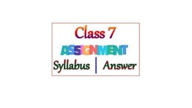 6th week assignment class 7
